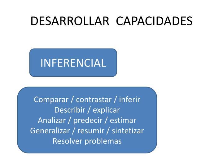 DESARROLLAR  CAPACIDADES