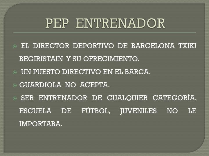 PEP  ENTRENADOR