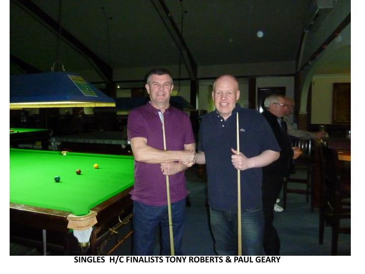 SINGLES  H/C FINALISTS TONY ROBERTS & PAUL GEARY