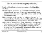 how black holes emit light continued2