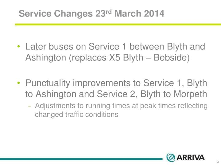 Service Changes 23