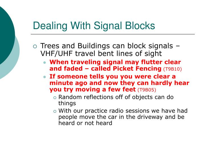 Dealing With Signal Blocks