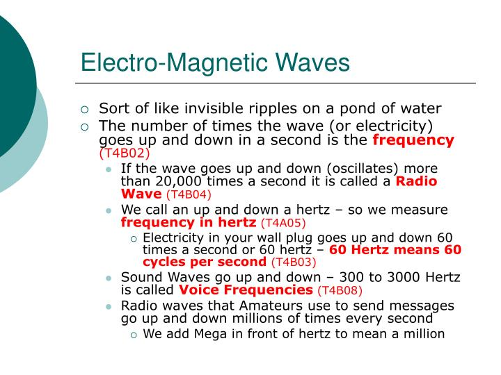 Electro-Magnetic Waves