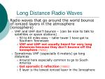 long distance radio waves