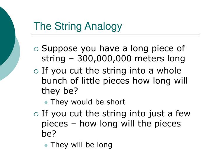 The String Analogy