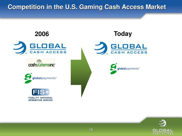 Competition in the U.S. Gaming Cash Access Market
