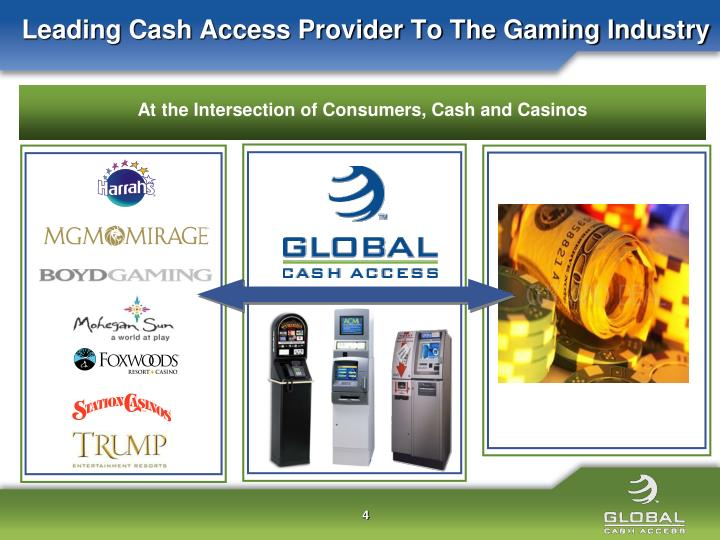 Leading Cash Access Provider To The Gaming Industry