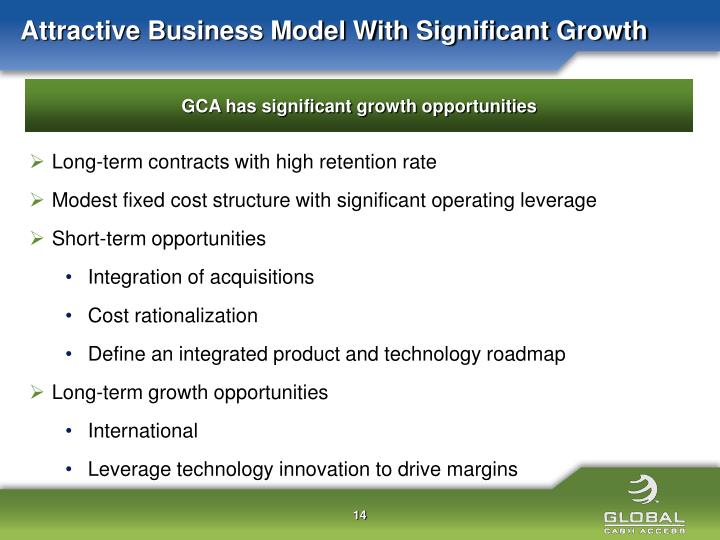 Attractive Business Model With Significant Growth
