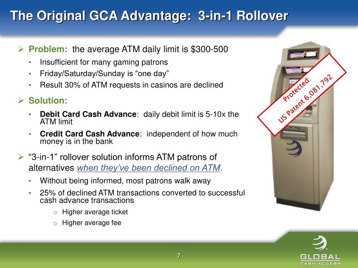 The Original GCA Advantage:  3-in-1 Rollover