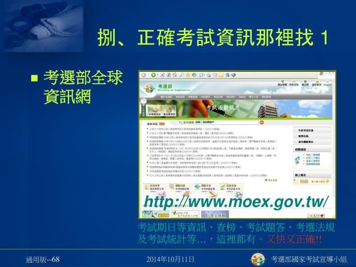 考選部全球資訊網