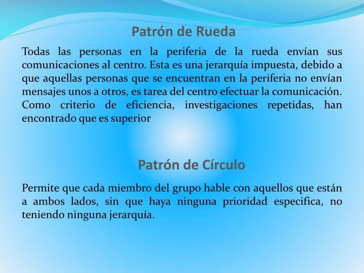 Patrón de Rueda