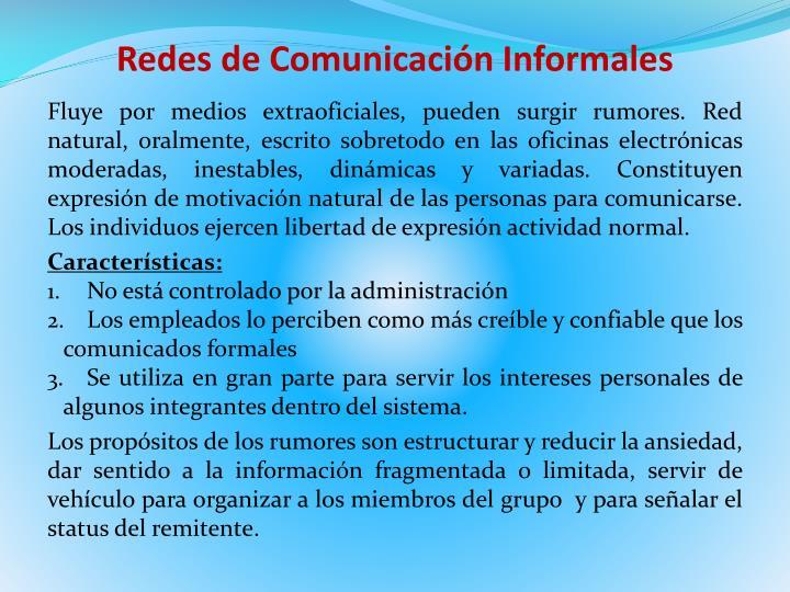 Redes de Comunicación Informales
