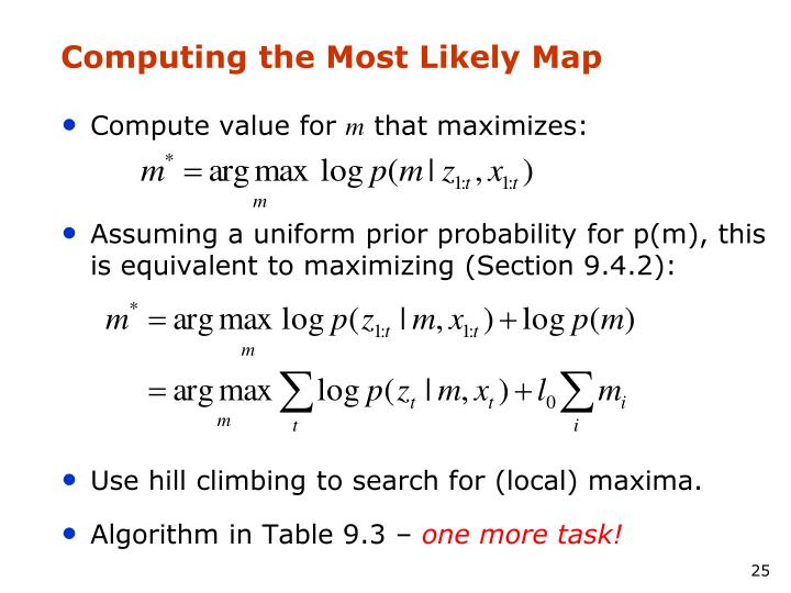 Computing the Most Likely Map