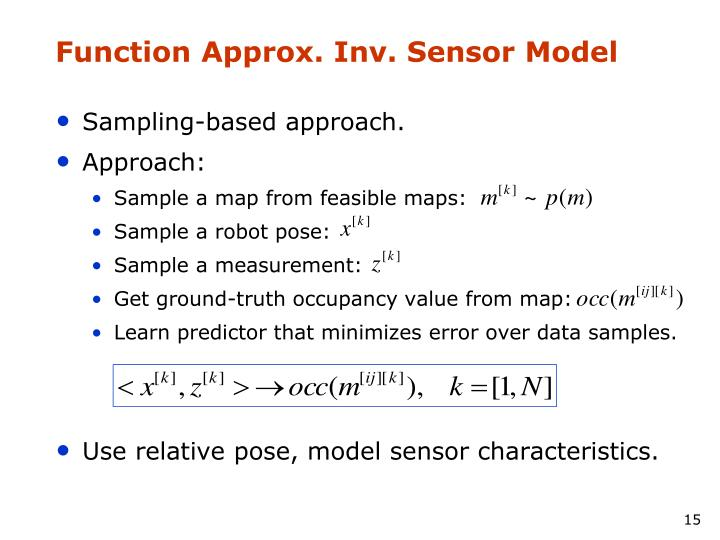 Function Approx. Inv. Sensor Model