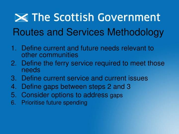 Routes and Services Methodology