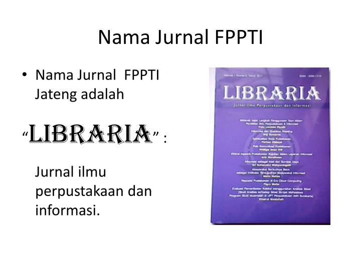 Nama Jurnal FPPTI
