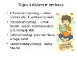 tujuan dalam membaca