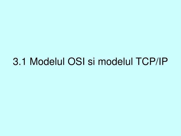 3.1 Modelul OSI si modelul TCP/IP