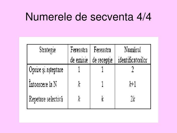 Numerele de secventa 4/4