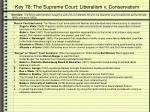 key 78 the supreme court liberalism v conservatism