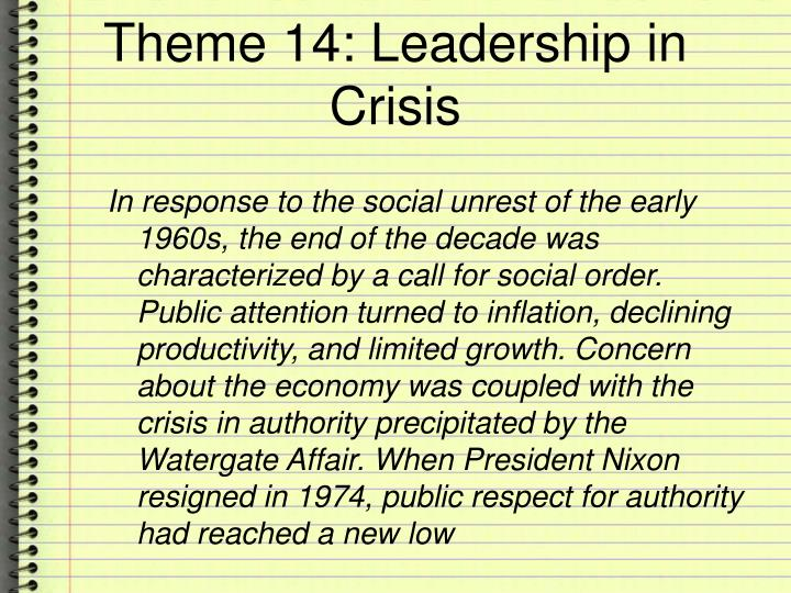 Theme 14 leadership in crisis