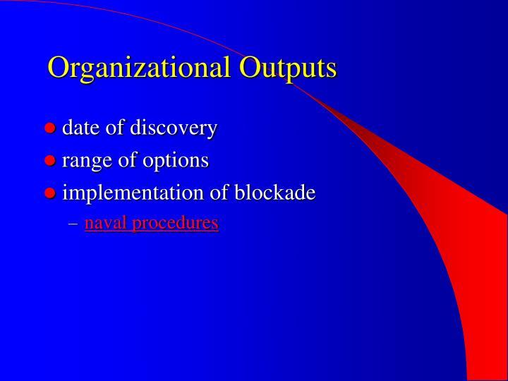 Organizational Outputs