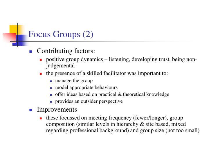 Focus Groups (2)