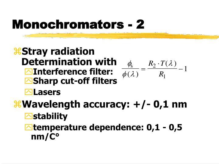 Monochromators - 2