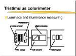 tristimulus colorimeter