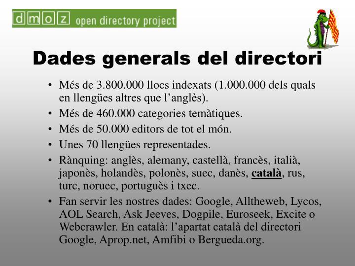 Dades generals del directori