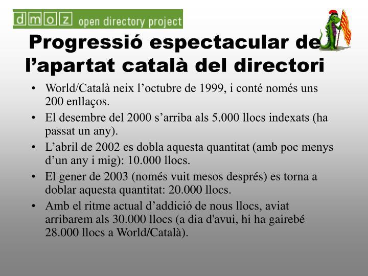 Progressió espectacular de l'apartat català del directori