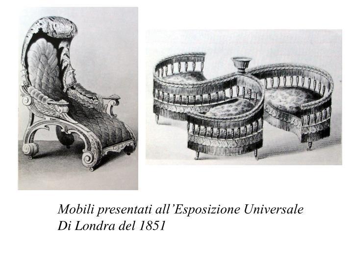 Mobili presentati all'Esposizione Universale