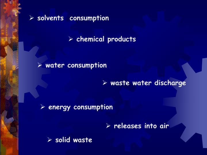 solvents  consumption