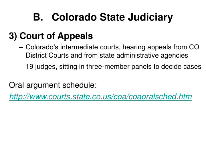 Colorado State Judiciary