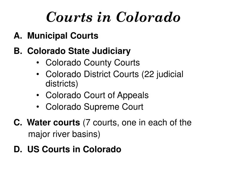 Courts in colorado