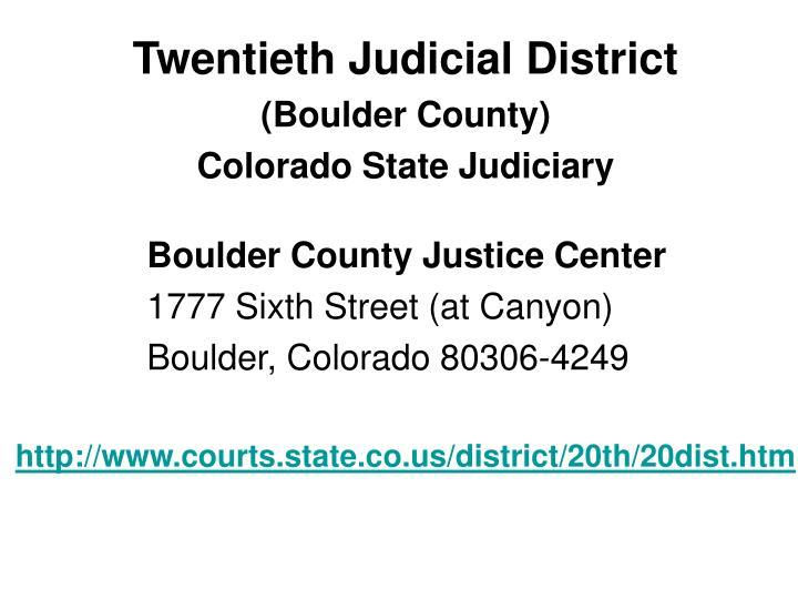 Twentieth Judicial District