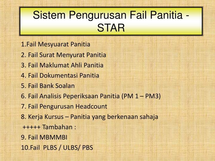 Sistem Pengurusan Fail Panitia - STAR