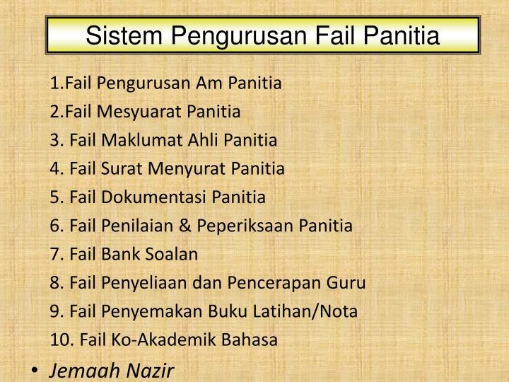 Sistem Pengurusan Fail Panitia