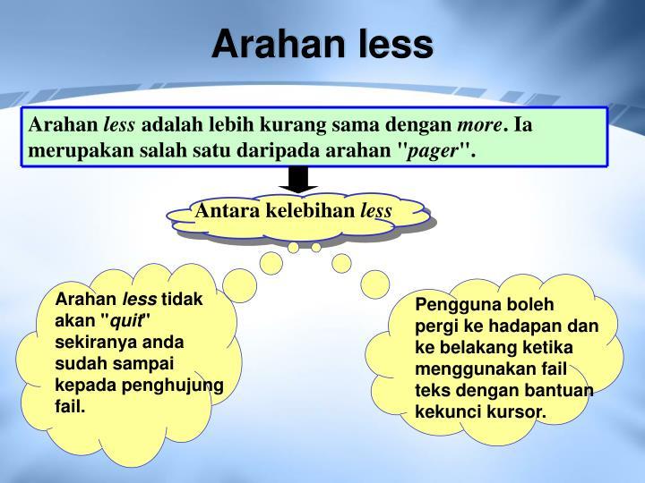 Arahan less