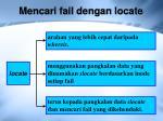 mencari fail dengan locate