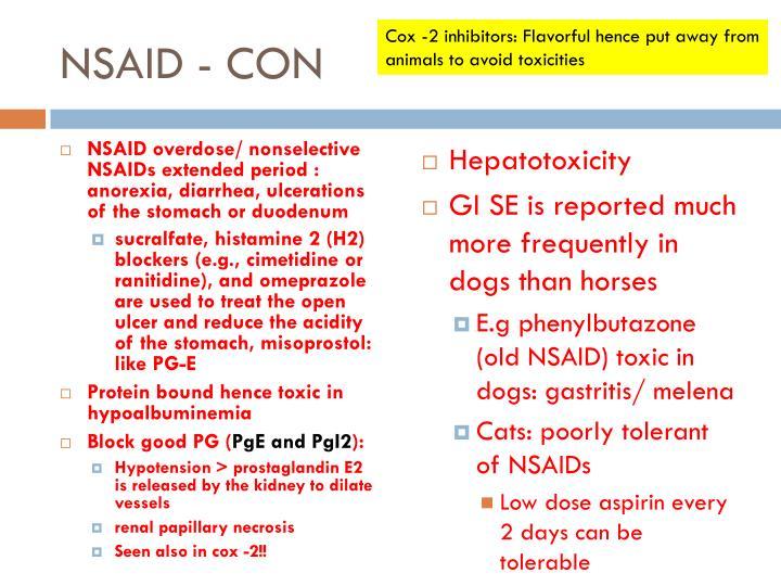 NSAID - CON