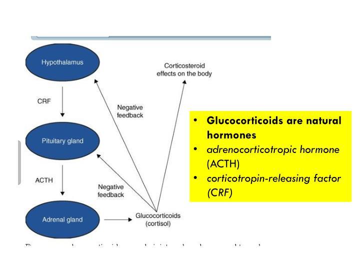 Glucocorticoids are natural hormones