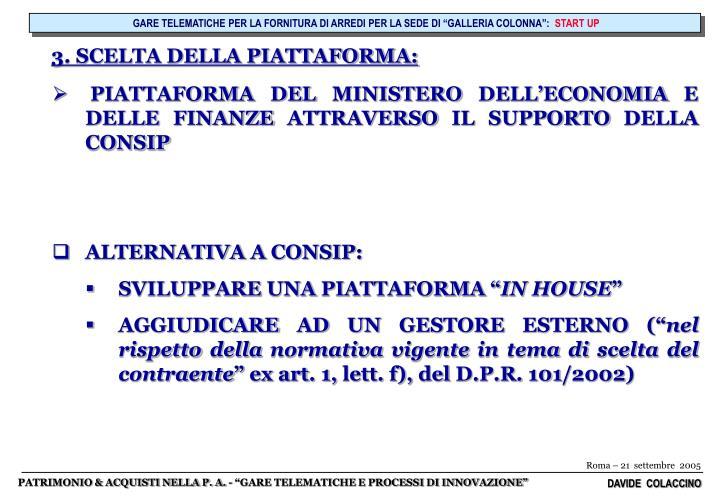"""GARE TELEMATICHE PER LA FORNITURA DI ARREDI PER LA SEDE DI """"GALLERIA COLONNA"""":"""