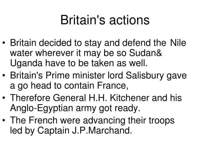 Britain decided to stay and defend the Nile water wherever it may be so Sudan& Uganda have to be taken as well.