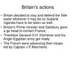 britain s actions
