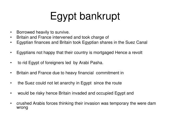 Egypt bankrupt