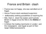 france and britain clash