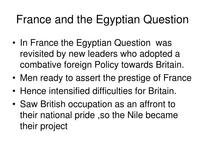 France and the Egyptian Question