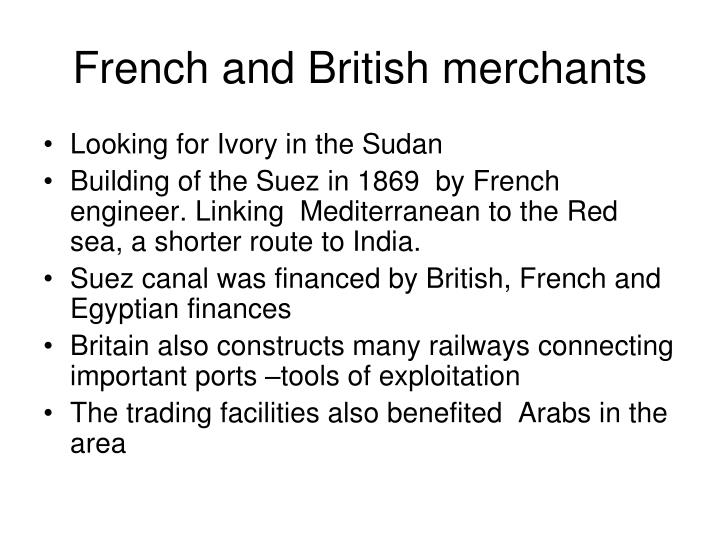 French and british merchants