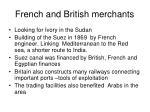 french and british merchants